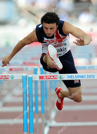 Athletics - European Championships - Helsinki Gianni Frankis of Great Britain in action in the 110m hurdles semi final during Day Five of the European Athletics Champions in The Olympic Stadium Helsinki on 1st July 2012  Germany Helsinki