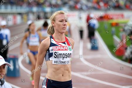 Athletics - European Championships - Helsinki Jemma Simpson of Great Britain prepares for the womens 800m semi final during day two of the European Athletics Champions in The Olympic Stadium Helsinki on 27th June 2012  Germany Helsinki