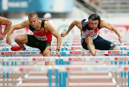 Athletics - European Championships - Helsinki Gianni Frankis of Great Britain competes in the 110m hurdles heats during day Four of the European Athletics Champions in The Olympic Stadium Helsinki on 30th June 2012  Germany Helsinki