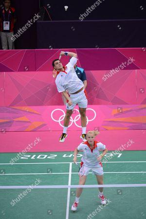 Imogen Bankier and Chris Adcock Great Britain Olympic Badminton London Wembley 2012 UK London