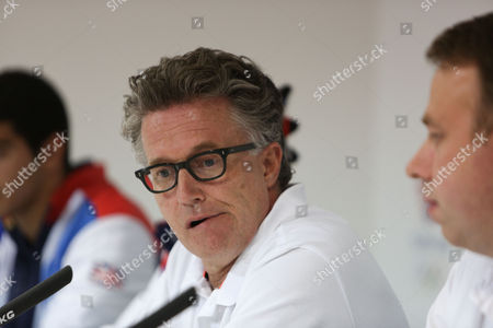 Team GB Head Coach Charles van Commenee at the press conference at Team GB House Stratford The BOA has announced today 71 track and field athletes selected to Team GB for the London 2012 Olympic Games
