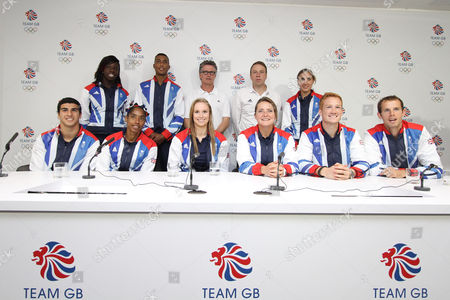 From L-R Adam Gemili Anyika Onuora Yamile Aldama Andrew Osagie Sophie Hitchon (front) Team GB Head Coach Charles van Commenee Goldie Sayers (front) Team GB Chef de Mission Andy Hunt Lisa Dobriskey Greg Rutherford and Rhys Williams The BOA has announced today 71 track and field athletes selected to Team GB for the London 2012 Olympic Games
