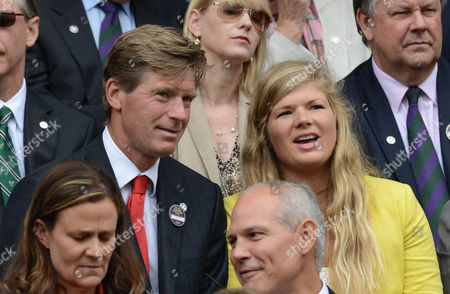 Wimbledon Week 2; Tennis Championships 2012 04/07/2012 Peter Fleming with his daughter in the Royal Box Centre court