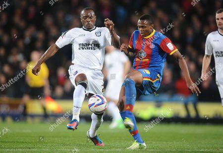 Football - 2012 / 2013 Championship - Crystal Palace vs Ipswich Town Nigel Reo Coker - Ipswich Kagisho Dikacoi - Crystal Palace at Selhurst Park