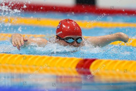 Paralympics - Swimming - Women's 50m Butterfly - S7 - Heats Susannah Rodgers of GBR in action during her heat at the Aquatics Centre in the Olympic Park Stratford UK Stratford, UK