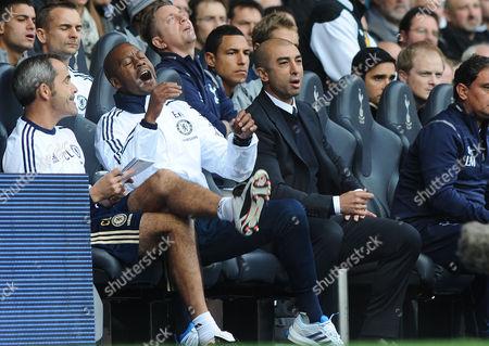 Football - 2012 / 2013 Premier League - Tottenham Hotspur vs Chelsea Roberto Di Matteo - Chelsea Manager with assistant coach Eddie Newton at White Hart Lane