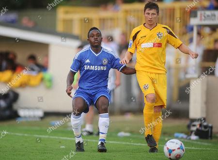 Football - 2012 / 2013 pre-season friendly - Sutton United vs Chelsea XI Kevin Wright - chelsea Harry Beautyman - Sutton at Borough Sports Ground