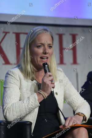 Catherine McKenna, Minister of Environment and Climate Change of Canada, speaks during the launch of the 2050 Pathways Platform, at the COP22 climate change conference, in Marrakech, Morocco