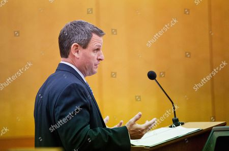 Stock Photo of Craig Terrett Attorney Craig Terrett questions his witness Bobby Brown, the father of Bobbi Kristina Brown, during a wrongful death case against her partner, Nick Gordon, in Atlanta, . Brown, the celebrity daughter of singers Whitney Houston and Bobby Brown, was found face-down and unresponsive in a bathtub in her suburban Atlanta townhome in January 2015