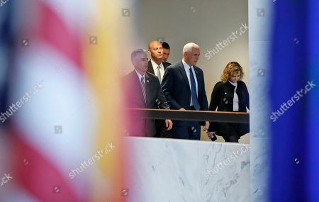 Mike Pence, Charlotte Pence Vice president-elect Mike Pence, with his daughter Charlotte Pence, right, arrives for a meeting with Senate Minority Leader-elect Chuck Schumer of N.Y., on Capitol Hill in Washington