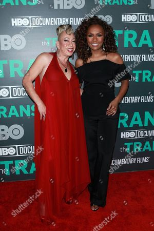 Stock Picture of Bamby Salcedo and Janet Mock