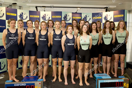 Rowing - 2013 BNY Mellon Boat Race & Newton Women?s Boat Race Crew Announcement & Weigh-In - BNY Mellon Centre London OXFORD Bow: Marianne Novak 2: Alice Carrington-Windo 3: Mary Foord-Weston 4: Jo Lee 5: Amy Varney 6: Harriet Keane 7: Anastasia Chitty Stroke: Maxie Scheske Cox: Katie Apfelbaum and CAMBRIDGE WOMEN Bow: Caroline Reid 2: Fay Sandford 3: Melissa Wilson 4: Jessica Denman 5: Vicky Shaw 6: Claire Watkins 7: Emily Day Stroke: Holly Game Cox: Esther Momcilovic It was the first time the Men?'s and Women?'s Announcement and Weigh-In took place at the same