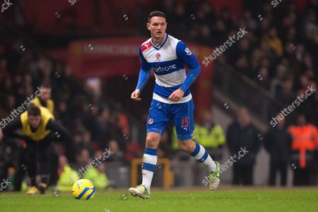 Stock Image of Football - 2012 / 2013 FA Cup - Fifth Round: Manchester United vs Reading Zurab Khizanishvili of Reading at Old Trafford