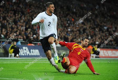 Football - 2014 World Cup Qualifier - Group H: England vs Montenegro Kyle Walker - England Milan Jovanovic - Montenegro at Wembley
