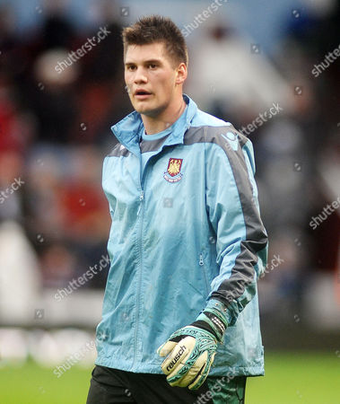 Football - 2012 / 2013 Premier League - West Ham United vs Everton Raphael Spiegel - West ham Utd goalkeeper at Upton Park
