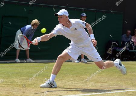 Tennis - 2013 Wimbledon Championships - Boys Semi Final Kyle Edmund against Gianluigi Quinzi Kyle Edmund - GBR Great Britain