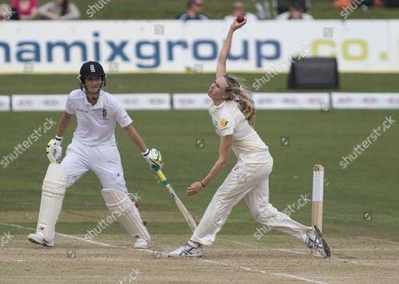 Cricket - 2015 Australian Women's Tour of England - Australia Kia Women's Test at St Lawrence Ground Canterbury Australia's Holly Ferling bowling  GBR Canterbury
