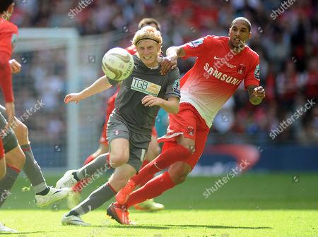 Football - 2014 League One Play-Off Final - Leyton Orient vs Rotherham Rotherham's Ben Pringle and Shaun Batt at Wembley