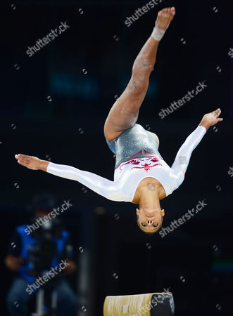 Gymnastics - 2014 Glasgow Commonwealth Games - Day Six Women's Artistic Team All-Around England's Rebecca 'Becky' Downie on the balance beam at The SSE Hydro