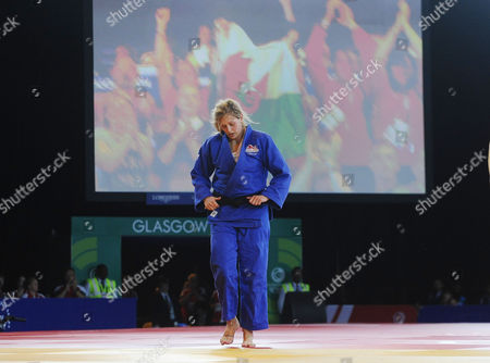 Judo - 2014 Glasgow Commonwealth Games - Day Three Women's Half-heavyweight [78kg] Final: Gemma Gibbons (England) vs Natalie Powell (Scotland) Gemma Gibbons shows her dejection after losing the final at the Scottish Exhibition and Conference Centre (SECC)