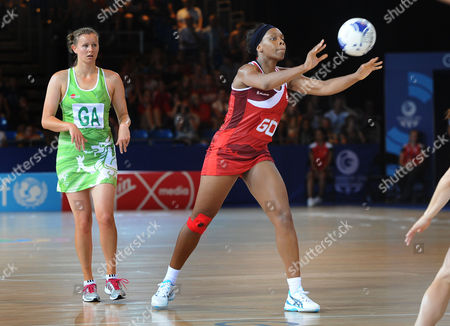 Netball - 2014 Glasgow Commonwealth Games - Day Two Preliminary Round Pool B: England vs Wales England's Eboni Beckford Chambers at the SECC Hall