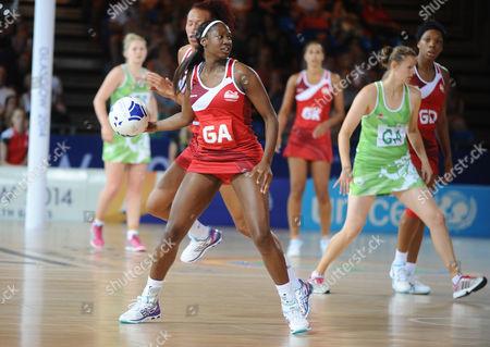 Netball - 2014 Glasgow Commonwealth Games - Day Two Preliminary Round Pool B: England vs Wales England's Kadeen Corbin at the SECC Hall