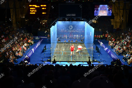 Squash - 2014 Glasgow Commonwealth Games - Day Five Mens Final - Nick Matthew v James Wilstrop View of the glass Squash court