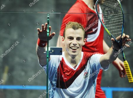 Squash - 2014 Glasgow Commonwealth Games - Day Five Men's Singles Final: Nick Matthew (England) vs James Willstrop (England) Matthew celebrates victory at Scotstoun Sports Campus