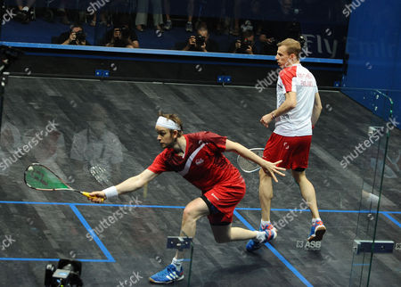 Squash - 2014 Glasgow Commonwealth Games - Day Five Men's Singles Final: Nick Matthew (England) vs James Willstrop (England) Matthew (in white) takes on Willstrop (in red) at Scotstoun Sports Campus