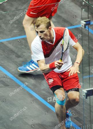 Stock Picture of Squash - 2014 Glasgow Commonwealth Games - Day Five Mens Final - Nick Matthew v James Wilstrop England's Nick Matthew at Scotsoun