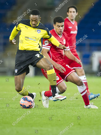 Football - 2014 / 2015 FA Cup - Third Round: Cardiff City vs Colchester United Sanchez Watt of Colchester Utd & Jordon Mutch of Cardiff at the Cardiff City Stadium  UK cardiff
