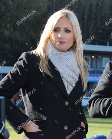 Football - 2014 / 2015 FA Cup - Third Round: Dover Athletic vs Crystal Palace BT Sport Commentator Lynsey Hipgrave at the Crabble Athletic Ground