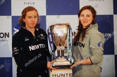 Rowing - 2015 BNY Mellon Boat Race & Newton Women's Boat Race Crew Announcement & Weigh-In - Royal Academy of Arts Burlington Garden Womens Captain Anastasia Chitty of GBR for Oxford (left) and Cambridge Captain Caroline Reid of GBR
