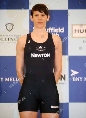 Stock Picture of Rowing - 2015 BNY Mellon Boat Race & Newton Women's Boat Race Crew Announcement & Weigh-In - Royal Academy of Arts Burlington Garden Womens Caryn Davies of USA for Oxford