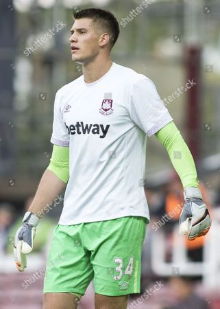 Football - 2015 / 2016 Europa League - Third Qualifying Round First Leg: West Ham United vs Astra Giurgiu West Ham's Raphael Spiegel taking shooting practice before the match at Upton Park  United Kingdom London