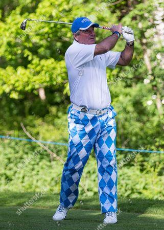 Golf - 2015 Wentworth BMW PGA Championship - Pro-Am Allan Lamb tees off at Wentworth Golf Club  United Kingdom Virginia Water