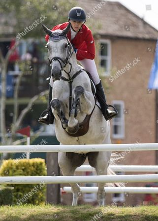 Stock Photo of Show Jumping - 2015 The Equestrian com Hickstead Derby Meeting The British Speed Derby (Liz Dudden Memorial Trophy) Ellen Whittaker riding Le Beau at The All England Jumping Club Hickstead  GBR Hickstead
