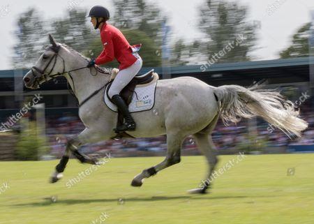 Show Jumping - 2015 The Equestrian com Hickstead Derby Meeting The British Speed Derby (Liz Dudden Memorial Trophy) Ellen Whittaker riding Le Beau at The All England Jumping Club Hickstead  GBR Hickstead