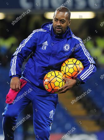 Football - 2015 / 2016 Premier League - Chelsea vs Watford Chelsea Coach Eddie Newton at Stamford Bridge