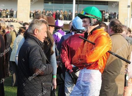 Horse Racing - 2016 Cheltenham Festival - Thursday Day Three [St Patrick's Thursday] Trainer Jean-Yves Arto (France) with jockey James Reveley before the 16 50 Trull house stud Mares novies hurdle race (class 1) at Cheltenham Racecourse