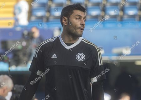 Football - 2015 / 2016 Premier League - Chelsea Vs Liverpool Chelsea's Marco Amelia at Stamford Bridge  United Kingdom London