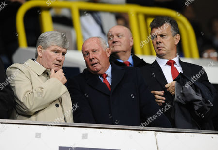 Football - 2015 / 2016 Capital One League Cup - Third Round: Tottenham Hotspur vs Arsenal Ex Arsenal players Pat Rice Liam Brady and David O'Leary at White Hart Lane