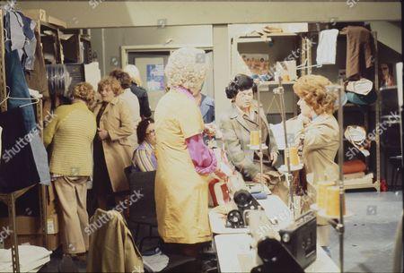 Elizabeth Dawn (as Vera Duckworth) Helene Palmer (as Ida Clough) and Lynne Perrie (as Ivy Tilsley)