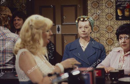 Stock Picture of Julie Goodyear (as Bet Lynch) Jean Alexander (as Hilda Ogden) and Helene Palmer (as Ida Clough)