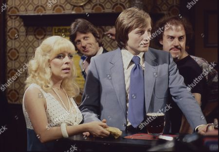 Julie Goodyear (as Bet Lynch) and Lawrence Mullin (as Steve Fisher)