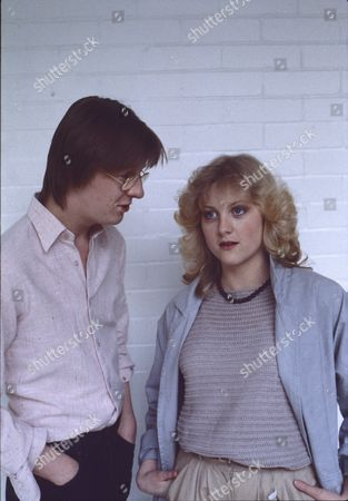 Kevin Kennedy (as Curly Watts) and Janette Beverley (as Elaine Pollard)