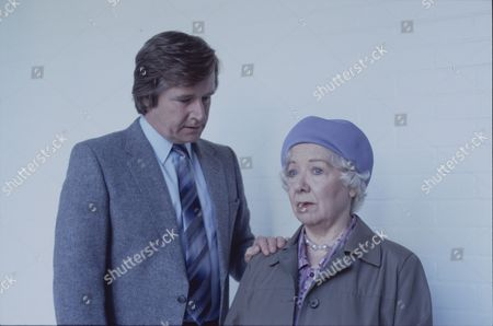 Stock Picture of William Roache (as Ken Barlow) and Gabrielle Daye (as Beattie Pearson)