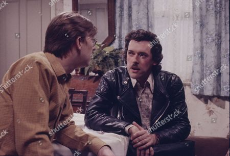 Kevin Kennedy (as Curly Watts) and Bob Hewis.