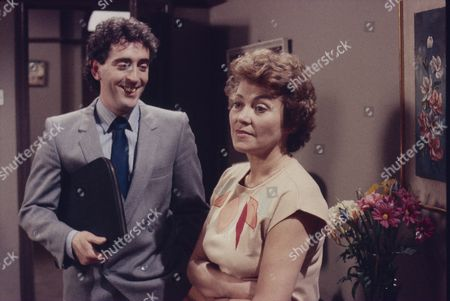 Stock Photo of Robert McCulley (as Mr Banks) and Anne Cunningham (as Linda Cheveski)
