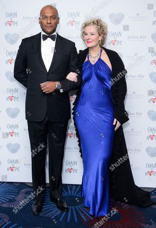 Colin Salmon and Fiona Hawthorne